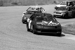 Ahead of the pack (Chubby's Photography) Tags: blackandwhite bw black cars car race blackwhite racing turn2 trackside wausau turn1 shorttrack shorttrackracing wausauwi stateparkspeedway localracing asphaltracing endruo200 wausauwiracing