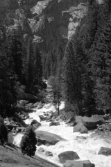 Yosemite #25 (Jed Sullivan) Tags: california park blackandwhite bw nationalpark stream yosemite streambed