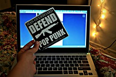 got my sticker <3 (WTF Bernie) Tags: christmas computer lights sticker punk quality laptop pop christmaslights defend manoverboard tumblr defendpoppunk
