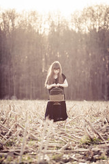 An empty cornfield (Kilkennycat) Tags: trees portrait birdcage girl field forest canon children corn child empty 500d kilkennycat t1i ryanconners 100mm28l