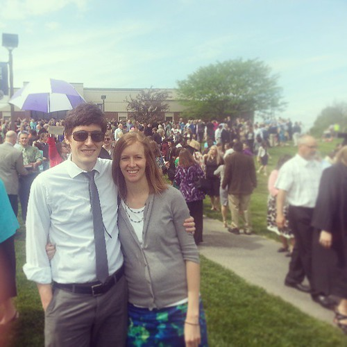 The wife and I at graduation today.