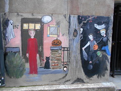 halloween themed (Joelk75) Tags: art graffiti alley tn knoxville tennessee marketsquare unionavenue pomonobo wallavenue