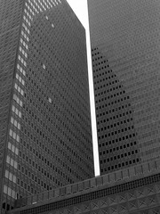 Republic_Center_Dallas_Texas_BW (S E Brendel) Tags: tower skyline architecture modern clouds skyscraper dallas office downtown commerce cityscape texas skyscrapers architecturaldetail contemporary modernism twin american highrise cbd residential citycenter internationalstyle highrises postmodernism centralbusinessdistrict
