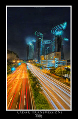 Radar Transmissions (Ashley Teo (PilotPotato)) Tags: blue sky urban panorama beautiful architecture night buildings landscape lights evening singapore long exposure glow cityscape slow magic dramatic wideangle scene architectural shutter blending d7000
