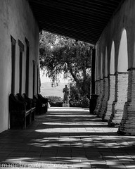 shadows of reflection (plachance) Tags: california blackandwhite bw building church monochrome architecture mission canonef24105f4l californiamission skancheli