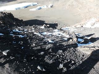 View of Crater Camp from Uhuru Peak