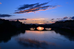 River Arno, Florence, Italy (John-Starnes) Tags: bridge sunset italy river florence firenze arno riverarno quotsunsetquot