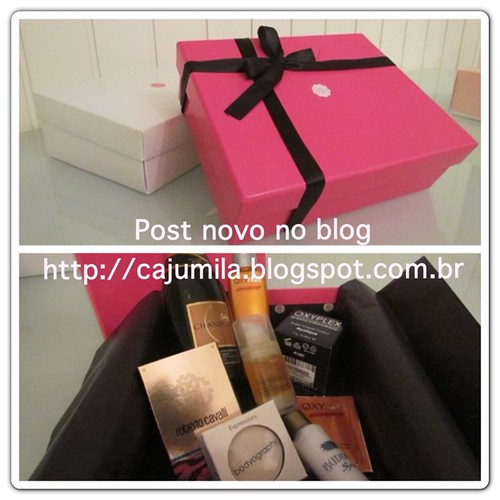 Confiram!!! #glossybox #glossyboxbr #amomuito #beauty #cajumila #cosmetics #chandon #makeup #tips #samples #love #instagood #box #amostras #maquiagem #cosmeticos #adoro  Glossy Box tests et avis sur la box
