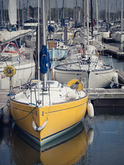 Beneteau First 211 (ShrubMonkey (Julian Heritage)) Tags: yellow marina boat harbour yacht first bow chichester berth 211 moored beneteau berthed