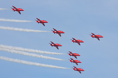 The Red Arrows (Huw Hopkins LRPS Photography) Tags: england spring united may kingdom airshow duxford cambridgeshire airfield iwm 2013