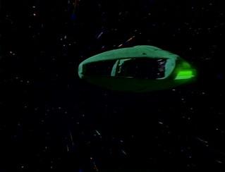 Romulan Warbird Khazara at warp speed