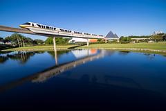 Epcot - Gliding By (Cory Disbrow) Tags: wdw disney waltdisneyworld epcot monorail sonya7 rokinon14mm