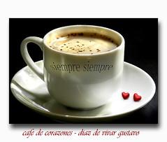 cafe de corazones - Diaz De Vivar Gustavo (Diaz De Vivar Gustavo) Tags: red de cafe gustavo julio 17 nescafe desayuno taza leche diaz capuccino corazones 2016 cortado ccon vivar nescafedolca