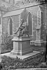 Statue of Sir B.L. Guinness, St. Patricks Cathedral, Dublin (National Library of Ireland on The Commons) Tags: robertfrench williamlawrence lawrencecollection lawrencephotographicstudio thelawrencephotographcollection glassnegative nationallibraryofireland sirblguinness stpatrickscathedral dublin statue guinness brewer philanthropist cathedral