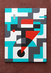 Communication (left part ,dyptich-1) Yuri Averin. (Averin Yurii Yourun) Tags: yuriaverin jardinrouge averin art contemporaryart abstraction marrakesh maroc graffuturism postgraffiti africa dyptich totemism color abstractart geometry geometric supremsib canvas montresso