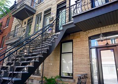 Staircase in Montreal (The Wide Wide World) Tags: montreal stairs staircase townhouse