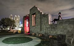 Late Late night (V.Duplain) Tags: cool shadow night rundle ramsay ruin ruins hospital architecture city urban girl sit calgary alberta canada canon 6d 1740mm stone wall urbex demolished