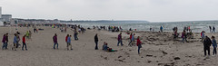Strandszene Warnemnde (OnTheStreets) Tags: rostock warnemnde panorama beach strand people