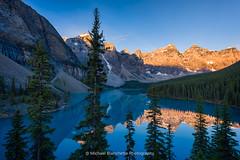 Moraine Sunrise (Mike Blanchette) Tags: banff canada canadianrockies glacier moraine nationalpark lake landscape nature rockies rockymountains sunrise improvementdistrictno9 alberta ca