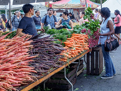 Carrots and Radishes (deepaqua) Tags: nyc unionsquare market vegetables