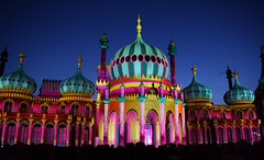 Dr Blighty - Brighton Pavilion (Explored) (Mark Wordy) Tags: drblighty brightonhove royalpavilion brightonfestival 2016 projections lightshow nutkhut art explore