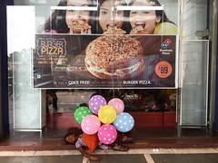 Rushdie's Midday's Children (Mayank Austen Soofi) Tags: delhi walla poverty balloon burger pizza fast food domino connaught place salman rushdie midnight children