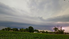 kaboom (LaLa83) Tags: storm thunder thunderstorm nature shelfcloud cloud blue lightening field farm outdoors weather samsung galaxy cellphone kaboom stoutsville ohio fairfieldcounty summer august 2016 ohiofoothills cemetery