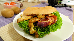 Burger Town in Glen Eden, West Auckland, New Zealand (Sandy Austin) Tags: panasoniclumixdmcfz70 sandyaustin massey westauckland auckland northisland newzealand burgertown gleneden burger chicken salad food