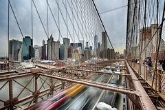 Brooklyn Bridge (juliekrugerart) Tags: trail girl julie kruger photography new york manhattan motion hustle bustle nikon d810 metropolitan museum brooklyn bridge grand central station taxis world trade center subway