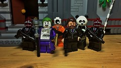 >Obligatory Beef Reference< (LordAllo) Tags: lego dc suicide squad joker henchmen jonny frost teeth guys eyeball guy panda hunkahunka no beef