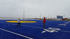 Playing catch on Cathy Parker Field in Barrow