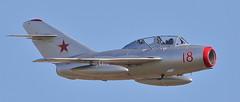 MiG-15 4 20160911 (Steve TB) Tags: duxford iwm meetthefighters 2016 canon eos7dmarkii mikoyan gurevich mig15uti norwegianairforcehistoricalsquadron
