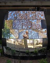 Reflex (Ellenore56) Tags: 06092016 spiegel mirror spiegelfliese mirrortile imspiegel inthemirror tarnnetz camouflagenet netz net reflex schatten shadow lichtundschatten lightandshadow szene scene sequence szenerie scenery setting detail moment augenblick sichtweise perception perspektive perpective reflektion reflection reflexion farbe color colour licht light inspiration imagination faszination magic panasonicdmctz61 ellenore56