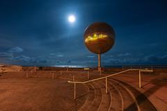 Blackpool (jumpandwave) Tags: blackpool mirror ball mirrorball night sea seafront moon sky clouds canon jumpandwave