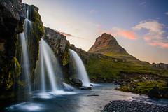 Kirkjufellsfoss (colin grubbs) Tags: kirkjufellsfoss iceland waterfall snfellsnes mountain sunset kirkjufell europe travel water stream longexposure