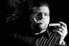 Smooth Criminal (matthasaname) Tags: d2xs smoke smoker smoking cigar cigarportrait people nikon