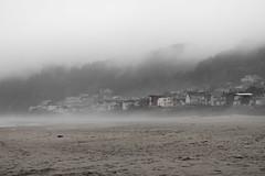 Fog Beach (D-Adams) Tags: beach fog foggy houses oregon d5300 nikon sand clouds gray grey coast