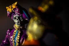 Lady Death (No Talent Bum) Tags: figurines pvccharacters pvcfigurines death dof macrophotography nikon nikond5300 kenkoextensiontubes extensiontubes victoriandress halloween