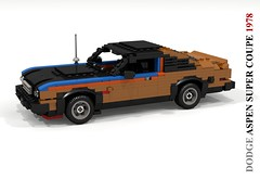 Dodge Aspen Super Coupe (1978) (lego911) Tags: dodge aspen super coupe 1978 chrysler corporation corp 1970s classic v8 auto car moc model miniland lego lego911 ldd render cad povray lugnuts challenge 106 exclusiveedition exclusive limited special edition usa america foitsop