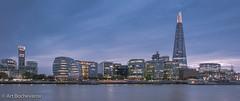 An evening in London. (abochevarov) Tags: london skyline city uk londonskyline shard theshard nikond810 tripod longexposure wideangle evening citylights europe travel travelphotography 24mm nikon