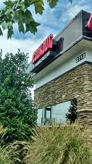 Cookout Restaurant Lumberton, NC. (dccradio) Tags: lumberton nc northcarolina robesoncounty cookout restaurant drivethru fastfood eat shakes burgers food tree trees greenery sky clouds sign building
