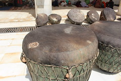 Close Up View of the Drums (Omair Anwer) Tags: lal shahbaz qalander mazar tomb sehwan sharif sufi sufism