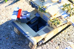 """""""Step One:"""" (Connor Querin) Tags: engine mtumb873 lego tank powerpack rear outdoors 135 leopard 2 a6 tan"""