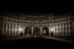Admiration vol.II (Nick.Richards) Tags: admiraltyarch admiration architecture london arches sepia longexposure nikon nikon1685 nickrichards nikond7100 nikefex night d7100 nightphotography lightroom lighttrails silverefex