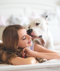 A friend is someone who knows all about you and still loves you. - Elbert Hubbard (patiigraphy) Tags: animal dog friend friendship day home bedroom rest kiss secret feelings inside indoor light sigma85 sigma85mm pentax k1 session photosession pet dogoargentino mastiff argentinemastiff girl woman beauty ola teri warsaw warszawa poland polska