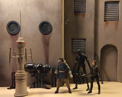 The street of Jedha from Rogue One. Custom 1/12 scale diorama (chevy2who) Tags: jyn inch six figure action series black blackseries diorama dio toy jedha one rogue wars star