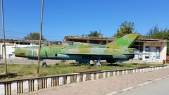 Mikoyan-Gurevich Mig.21UM c/n 516939036 Bulgarian Air Force serial 13 Preserved in the town of Dabravite, Bulgaria