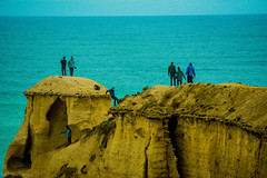 On the ledge beyond the fence. (Theresa Hall (teniche)) Tags: 12apostles australia australia2016 greatoceanroad melbourne russellcharters victoria