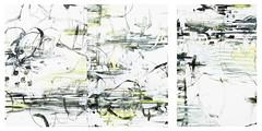 Triptych : Kyotoashitato sonomukou 2/3 (2016) oil on canvas, charcoal 1350x900x45mm x3 (mayakonakamura) Tags: zeronokai kunitachi courtgallery tokyo abstract painting oil groupshow groupexhibit mau mayako nakamura mayakonakamura canvas
