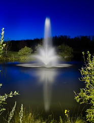 Blue Hour Fountain (D.Spence Photography) Tags: learnphotographycanada outdoor serene water landscape sky evening bluehour fountain